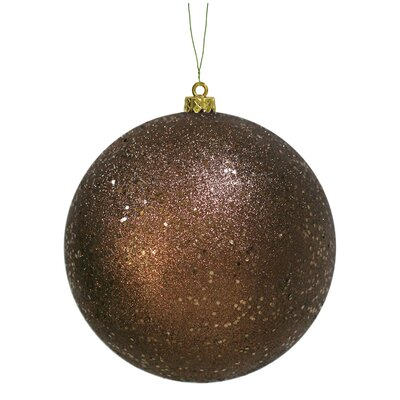 6 inch Chocolate Sequin Ball Ornament: Set of 4 N591515DQ