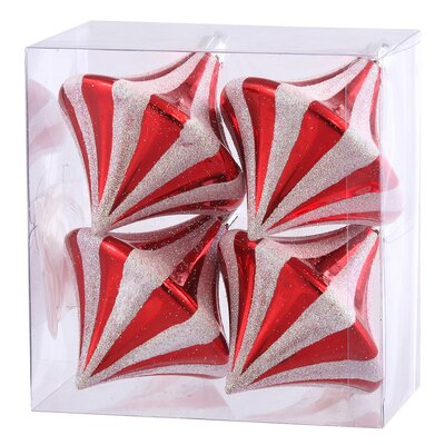 Diamond Shape Candy Cane Drop Christmas Ornament