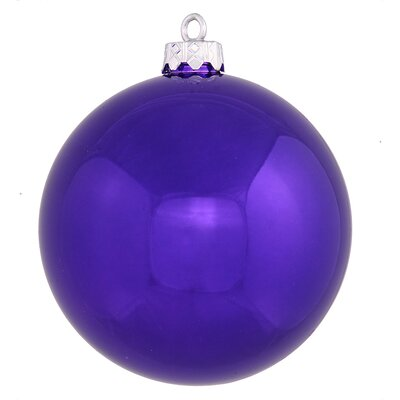 Ball Ornament with Cap Color: Purple