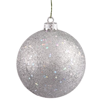 Vickerman Drilled Cap Sequin Ball Ornament - Color: Silver