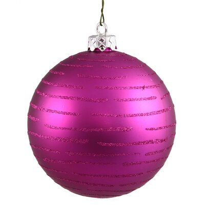 Vickerman Ball Christmas Ornament (Set of 2) - Color: Magenta