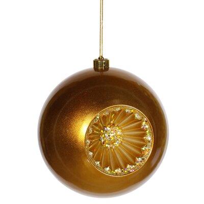 Retro Reflector Shatterproof Christmas Ball Ornament Color: Antique Gold