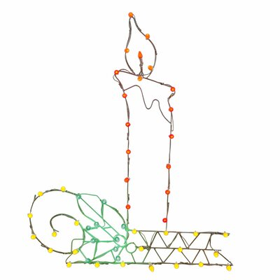 Furniture-Vickerman LED Candle C7 Wire Motif