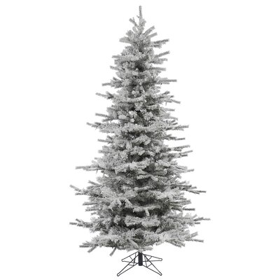 7.5' Flocked Slim Sierra Artificial Christmas Tree