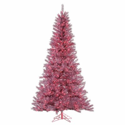 7.5' Orchid Pink Artificial Christmas Tree with 700 LED Pink Lights