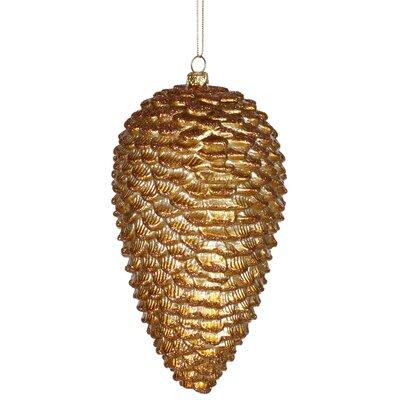 Vickerman Glitter Pinecone Christmas Ornament - Color: Antique Gold