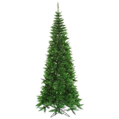 5.5' Green Tinsel Slim Christmas Tree