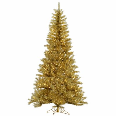 Vickerman 14' Gold/Silver Tinsel Christmas Tree with 3650 LED Clear Dura-Lit Lights