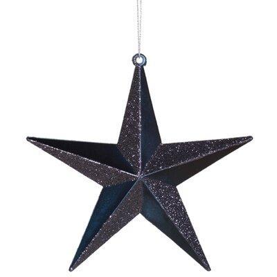 Matching Iridescent Glitter Christmas Star Ornament Color: Sea Blue