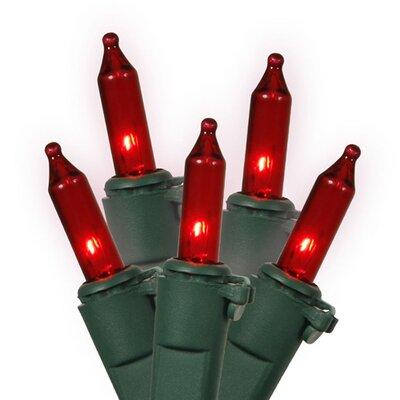 35 Light Christmas Light String Color: Red/Green