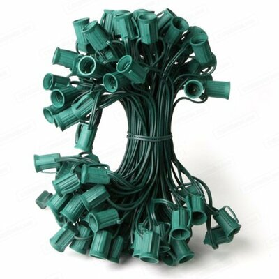 Commercial C7 Christmas Light Socket Set Color: Green