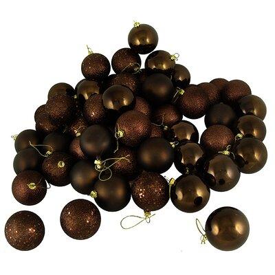 32 Piece Shatterproof Christmas Ball Ornament Set Color: Chocolate Brown