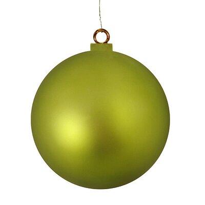 "Commercial Shatterproof Christmas Ball Ornament Size: 15.75"" W x 15.75"" D, Color: Matte Kiwi"