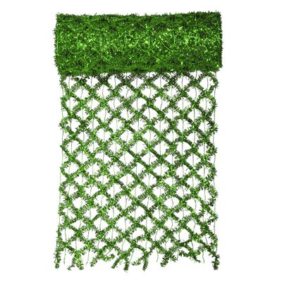 Commercial Length Extra Wide Wired Mesh Tinsel Garland Ribbon Color: Green