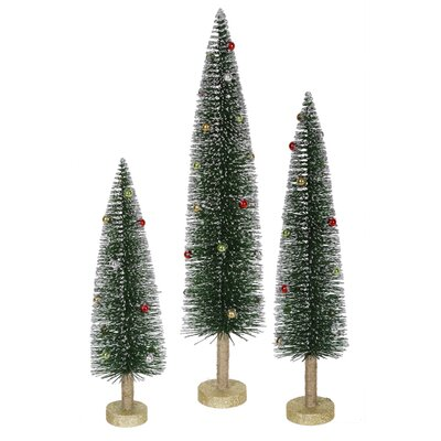 Whimsical Green Mini Village Artificial Christmas Tree
