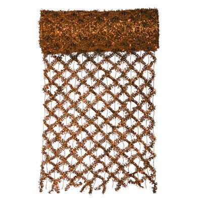 Commercial Length Extra Wide Wired Mesh Tinsel Garland Ribbon Color: Copper