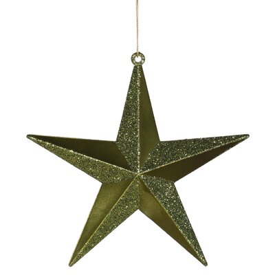 Matching Iridescent Glitter Christmas Star Ornament Color: Olive Green