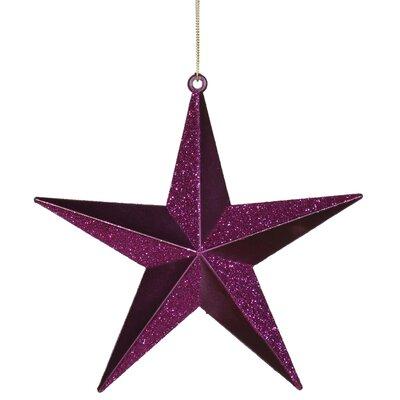 Matching Iridescent Glitter Christmas Star Ornament Color: Plum Purple