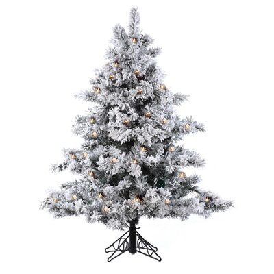 Vickerman 4.5' Flocked Alaskan Artificial Christmas Tree