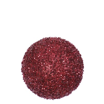 Glitter Drenched Christmas Ball Ornament Color: Burgundy Red