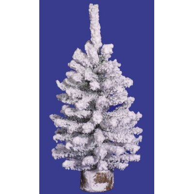 0.8' Flocked Alaskan Pine Christmas Trees A804309