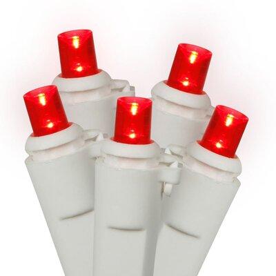 50 Wide Angle Christmas Light Color: Red