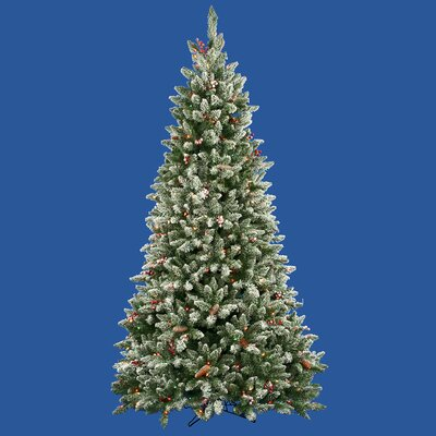 7.5' Frosted Edina Fir Cones and Berries Christmas Tree with Clear Lights A870276