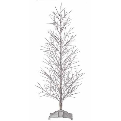 5' Silver Christmas Twig Tree with Multi
