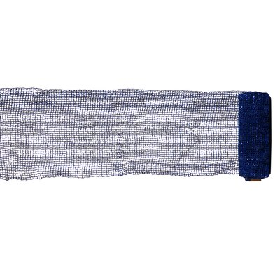 Extra Wide Mesh and Sparkle Tinsel Christmas Ribbon Color: Blue