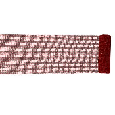 Extra Wide Mesh Sparkle Tinsel Christmas Ribbon Color: Red