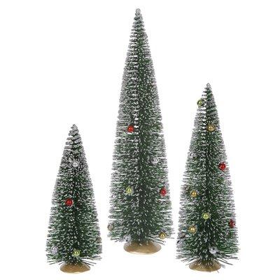 Whimsical Green Mini Village Artificial Christmas Tree