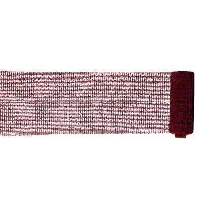 Extra Wide Mesh Sparkle Tinsel Christmas Ribbon Color: Burgundy