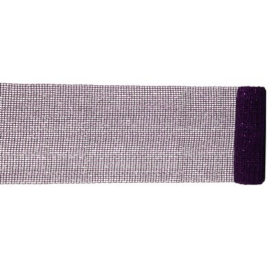 Extra Wide Mesh Sparkle Tinsel Christmas Ribbon Color: Purple