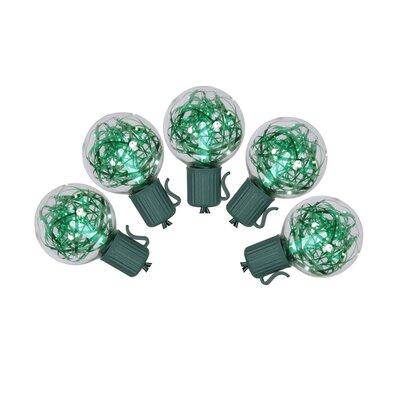 Tinsel Christmas Lights Color: Green