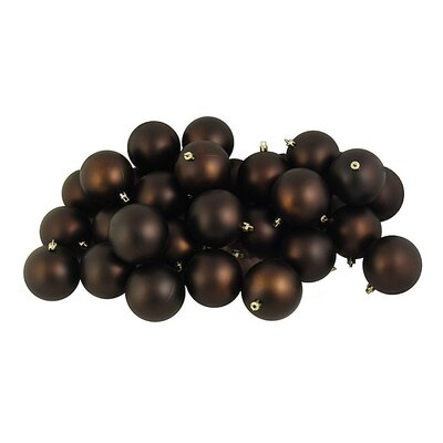 Shatterproof Christmas Ball Ornament Color: Matte Chocolate Brown