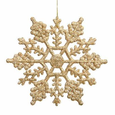 """Glitter Snowflake Christmas Ornament Size: 8"""" W x 8"""" D, Color: Gold Glamour M101608"""