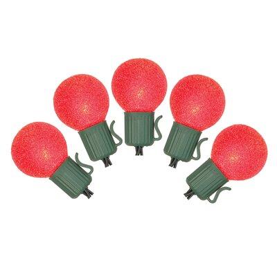 10 Light Christmas Light String Color: Red
