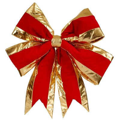 Large Commercial Sized Indoor Velvet 4 Loop Christmas Bow