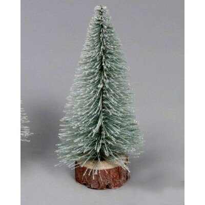 1' Flocked Artificial Village Christmas Tree