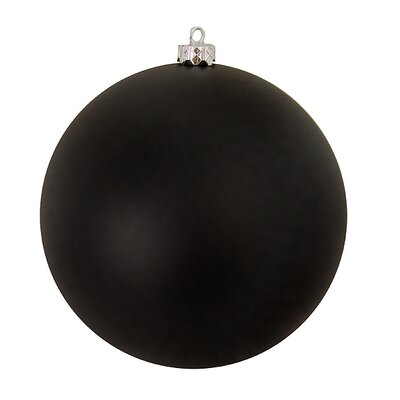 "Commercial Shatterproof Christmas Ball Ornament Size: 10"" W x 10"" D, Color: Jet Black"
