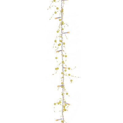 Beaded Artificial Christmas Garland Color: Yellow/Amber