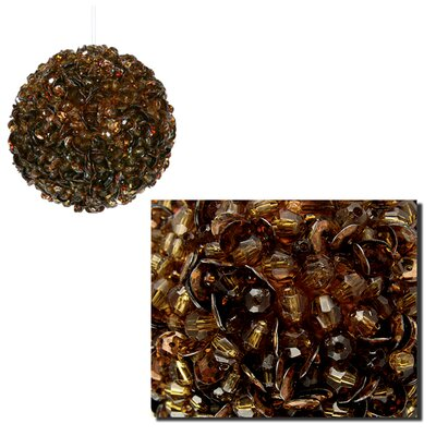 """Fully Sequined and Beaded Christmas Ball Ornament Size: 3.5"""" W x 3.5"""" D, Color: Chocolate Brown"""