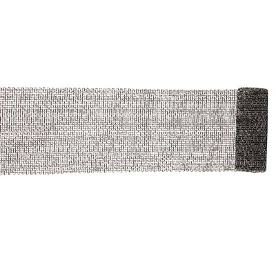 Extra Wide Mesh Sparkle Tinsel Christmas Ribbon Color: Black/Silver