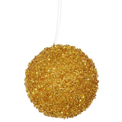 Glitter Drenched Christmas Ball Ornament Color: Baby Blue