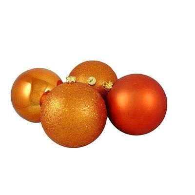 4 Piece Shatterproof Christmas Ball Ornament Set Color: Burnt Orange