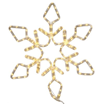 Lighted Rope Light Snowflake Commercial Christmas Decoration Size: 96