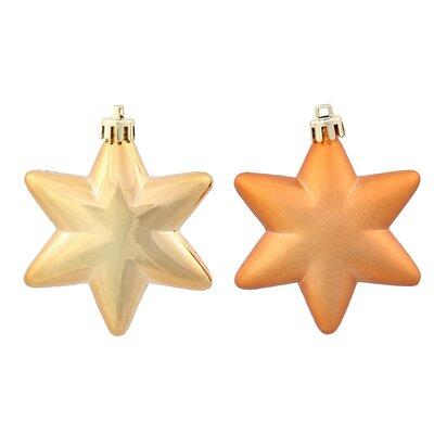 36 Piece Star Shatterproof Christmas Ornament Set Color: Antique Gold