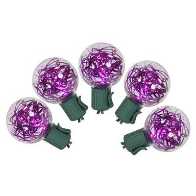 25 Tinsel Christmas Light Color: Purple