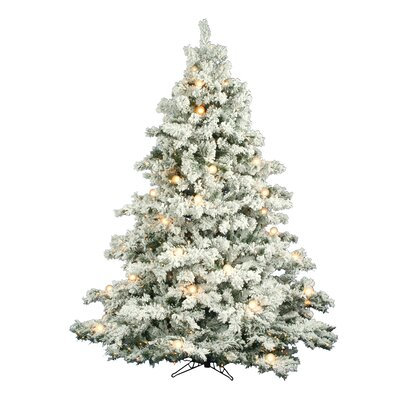 Vickerman Flocked Alaskan 7.5' White Artificial Christmas Tree with 800 Clear Lights with Stand at Sears.com