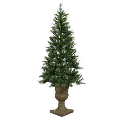 Oneco Pine 6.5' Half Potted Artificial Christmas Tree